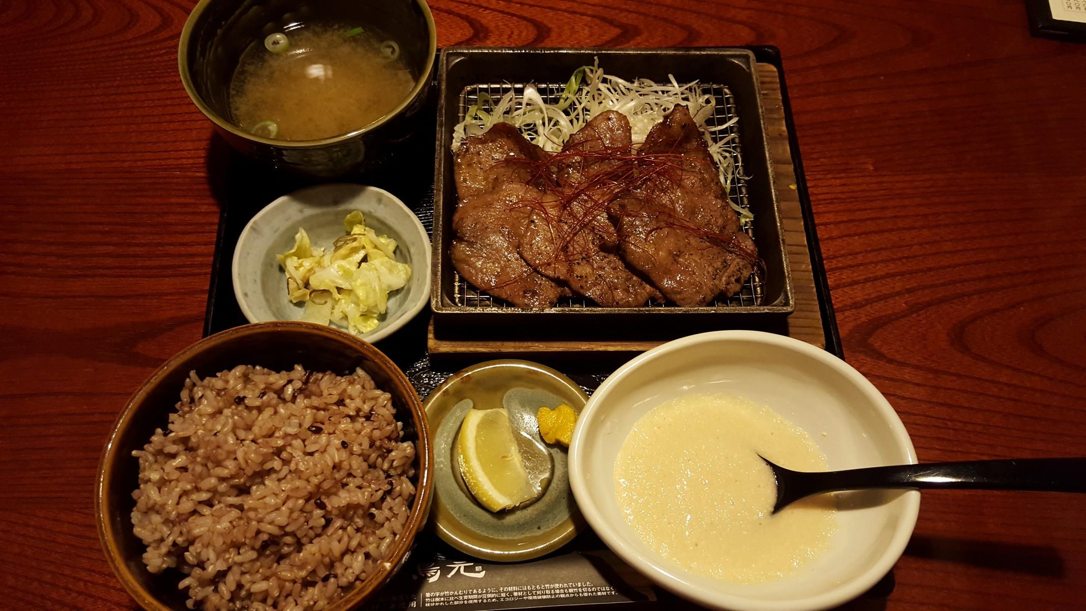 牛たん炭火焼き定食(白米を玄米に変更)【鳥元 神田南口店/神田】