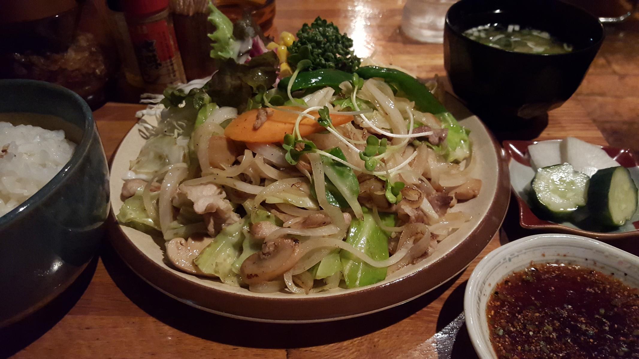 豚のオイル焼き定食【きーとどん/目黒】