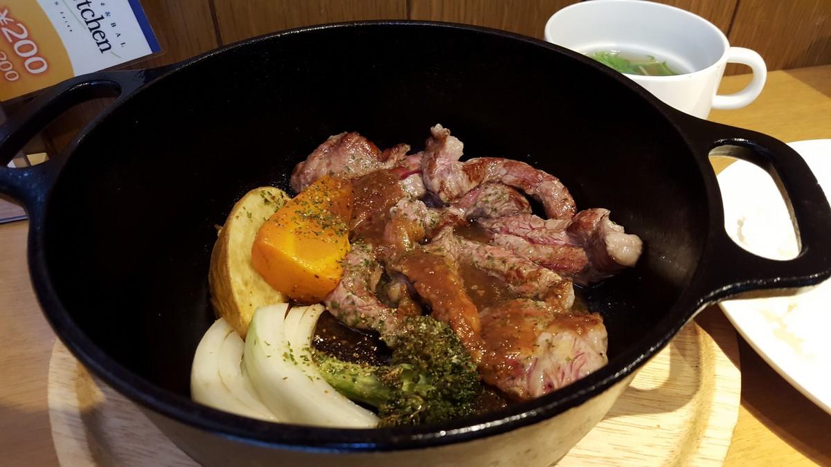 牛サーロインとゴロゴロ野菜【ラベンダーキッチン/自由が丘】