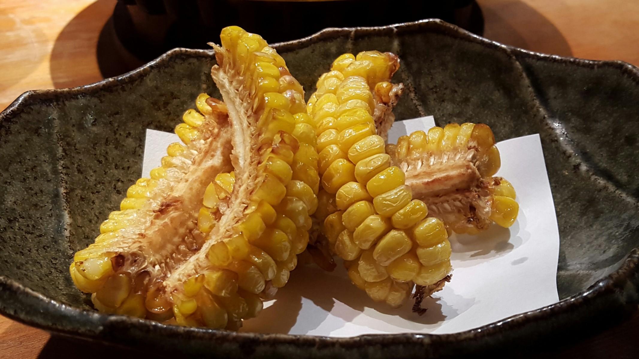 トウモロコシの素揚げ【しみず/中目黒】