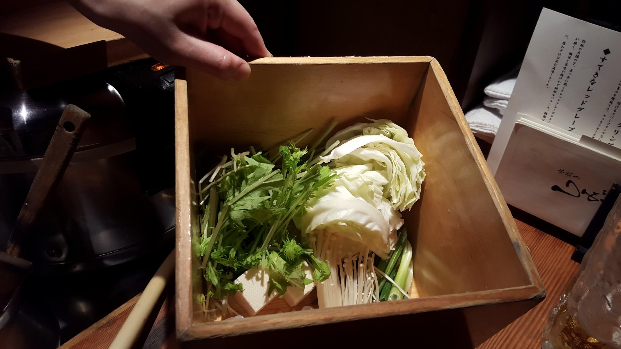 水炊きの具材・野菜【しみず/中目黒】