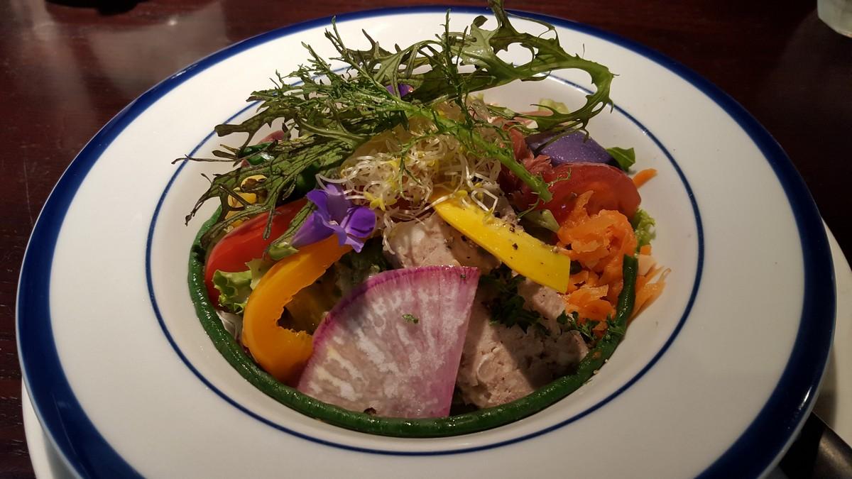 ランチのサラダ【ポンレヴェック/神泉】