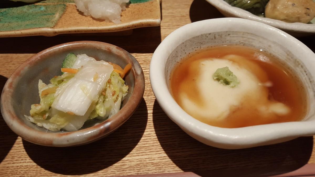 漬物とおぼろ豆腐【小割烹おはし/恵比寿】